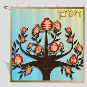 12 Tribes Israel Reuben Shower Curtain