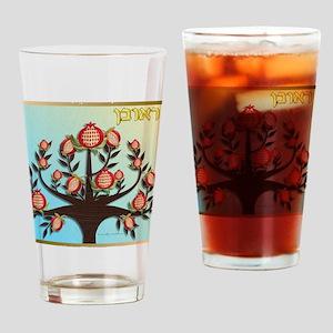 12 Tribes Israel Reuben Drinking Glass