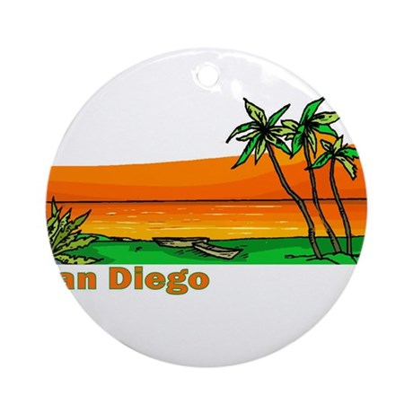 San Diego, California Ornament (Round)