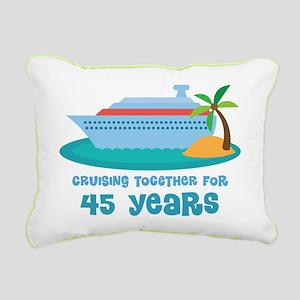 45th Anniversary Cruise Rectangular Canvas Pillow