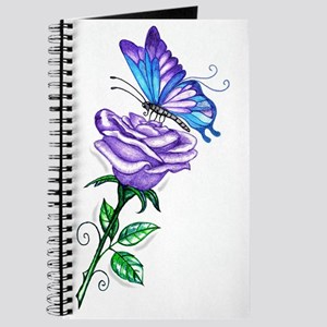 Purple Rose with Butterfly Journal