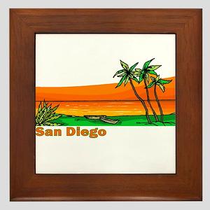 San Diego, California Framed Tile