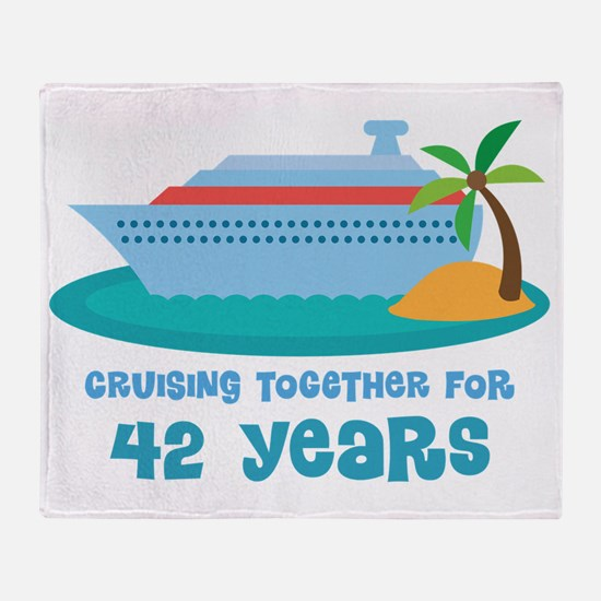 42nd Anniversary Cruise Throw Blanket
