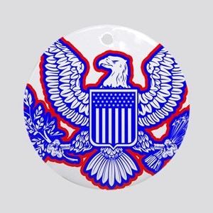 Red, White, and Blue Eagle Ornament (Round)