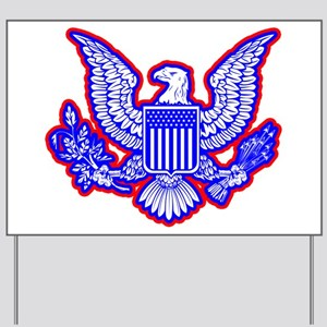 Red, White, and Blue Eagle Yard Sign