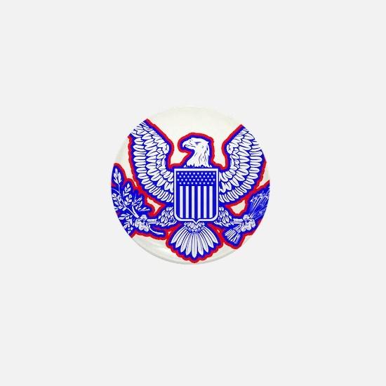 Red, White, and Blue Eagle Mini Button