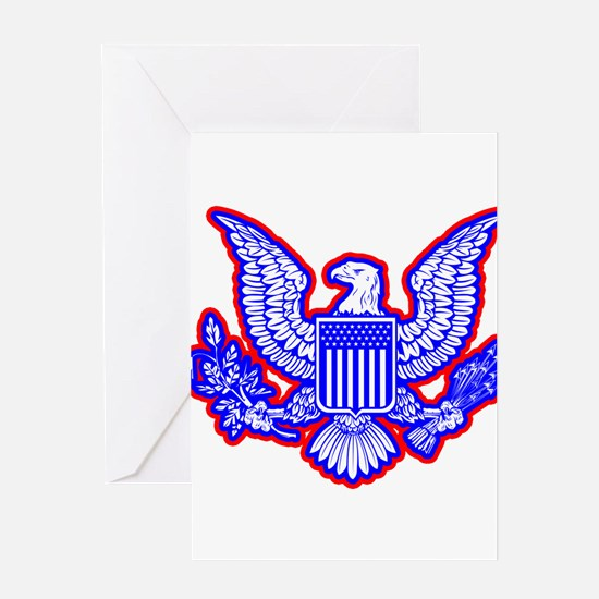 Red, White, and Blue Eagle Greeting Cards