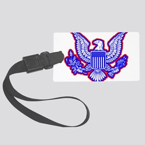 Red, White, and Blue Eagle Luggage Tag
