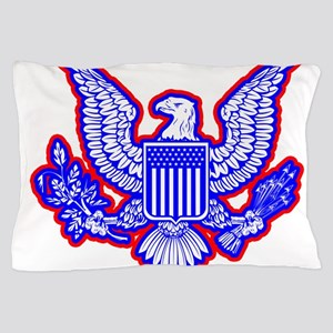 Red, White, and Blue Eagle Pillow Case
