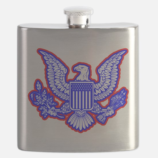 Red, White, and Blue Eagle Flask