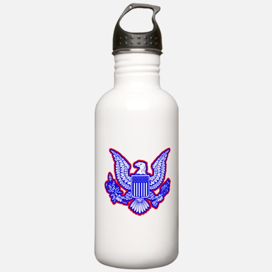 Red, White, and Blue Eagle Water Bottle