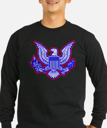 Red, White, and Blue Eagle Long Sleeve T-Shirt