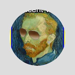 "Vincent van Gogh fuck yourself 3.5"" Button"