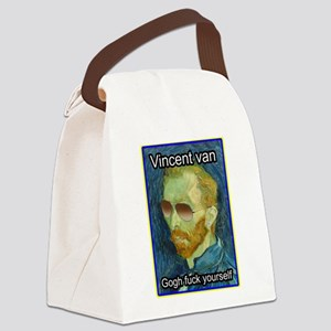 Vincent van Gogh fuck yourself Canvas Lunch Bag