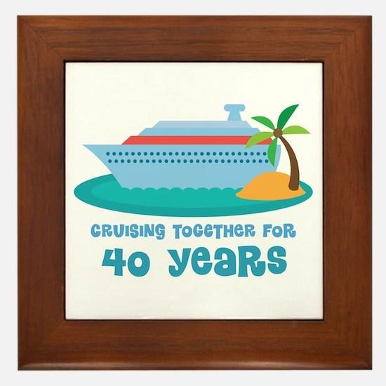 40th Anniversary Cruise Framed Tile