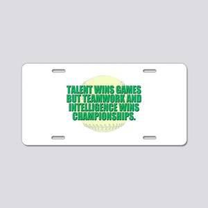 Girls fast pitch Aluminum License Plate