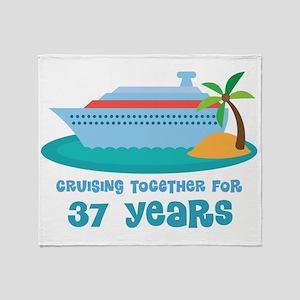 37th Anniversary Cruise Throw Blanket
