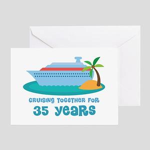 35th Anniversary Cruise Greeting Card
