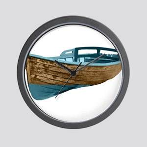 Wooden Boat Wall Clock