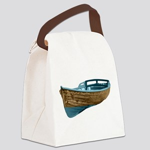 Wooden Boat Canvas Lunch Bag
