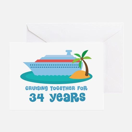 34th Anniversary Cruise Greeting Card