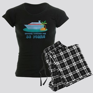 33rd Anniversary Cruise Women's Dark Pajamas