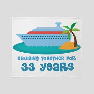 33rd Anniversary Cruise Throw Blanket