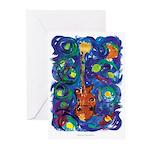 Starry Mandolin Greeting Cards (Pk of 10)