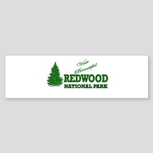 Visit Beautiful Redwood Natio Bumper Sticker