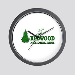 Visit Beautiful Redwood Natio Wall Clock