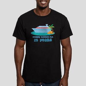 25th Anniversary Cruise Men's Fitted T-Shirt (dark