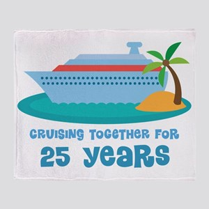 25th Anniversary Cruise Throw Blanket