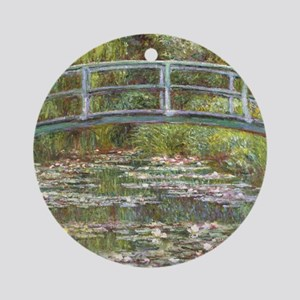 Monet Bridge over Water Lilies Ornament (Round)