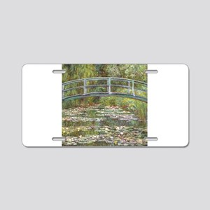 Monet Bridge over Water Lilies Aluminum License Pl