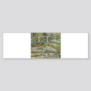 Monet Bridge over Water Lilies Bumper Sticker