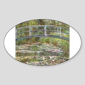 Monet Bridge over Water Lilies Sticker