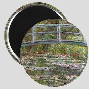 Monet Bridge over Water Lilies Magnets