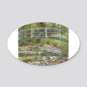 Monet Bridge over Water Lilies Oval Car Magnet