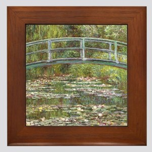 Monet Bridge over Water Lilies Framed Tile