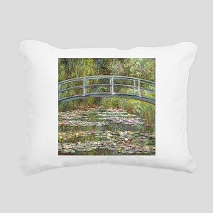 Monet Bridge over Water Lilies Rectangular Canvas