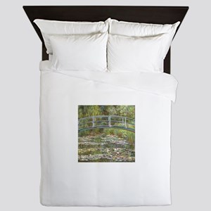 Monet Bridge over Water Lilies Queen Duvet