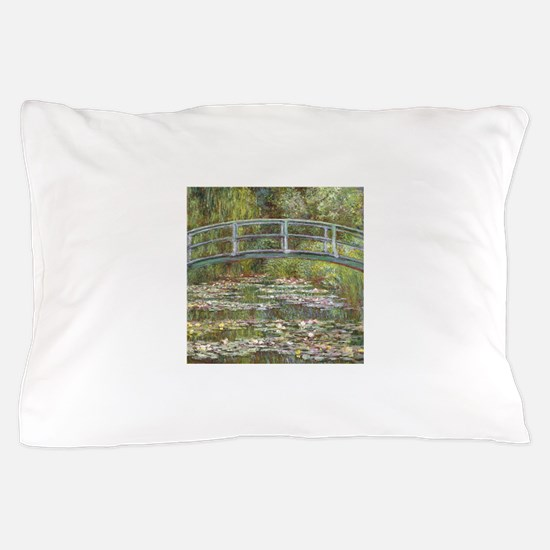 Monet Bridge over Water Lilies Pillow Case