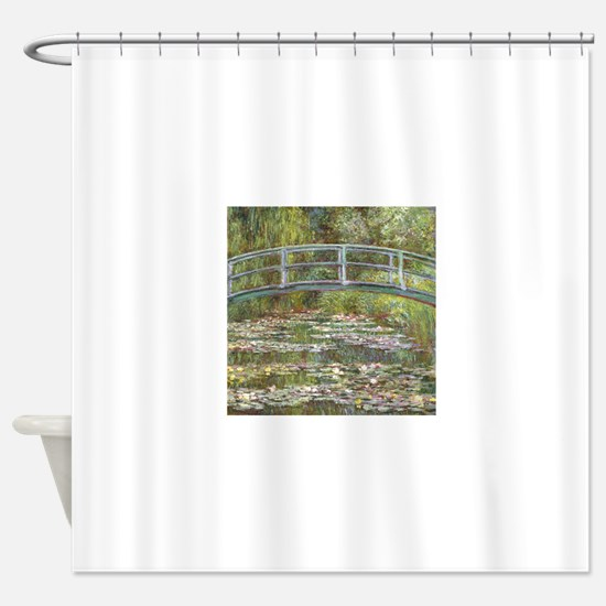 Monet Bridge over Water Lilies Shower Curtain