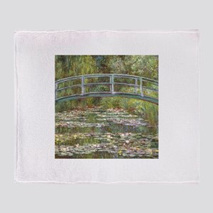 Monet Bridge over Water Lilies Throw Blanket
