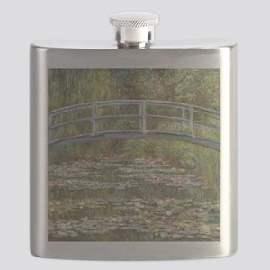 Monet Bridge over Water Lilies Flask
