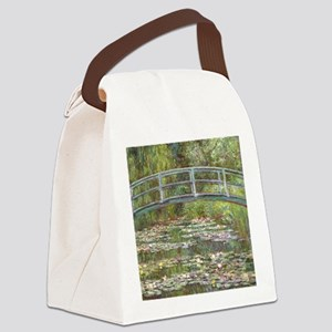 Monet Bridge over Water Lilies Canvas Lunch Bag