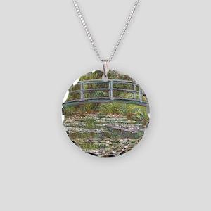 Monet Bridge over Water Lilies Necklace