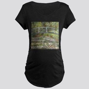 Monet Bridge over Water Lilies Maternity T-Shirt