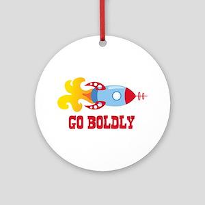 GO BOLDLY Ornament (Round)