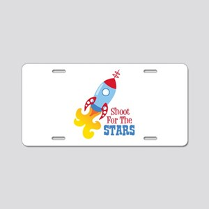 Shoot For The STARS Aluminum License Plate